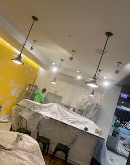 Chicago office interior painting project photo 2