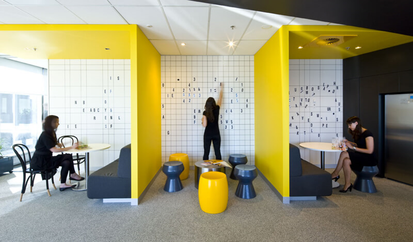 Yellow offices